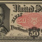 1874-76 Fifth Issue 50 Cent Fractional Currency FR# 1381 Ch Unc for sale face