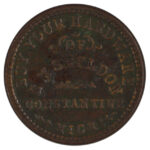 1863 Civil War Token Constantine MI EH Sheldon vf for sale e18 obverse