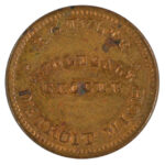 1863 Civil War Token Detroit MI RG Tyler Wholesale Grocer au for sale e27 obverse