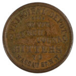1863 Civil War Token New York NY S Steinfeld au for sale e23 obverse