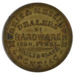 1863 Civil War Token Pontiac MI Morris & Messinger ef for sale e12 reverse