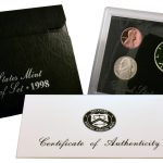 1998 Silver Proof Set for sale obverse