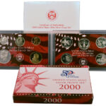 2000 Silver Proof Set for sale obverse