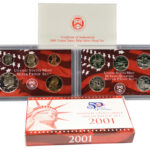 2001 Silver Proof Set for sale obverse