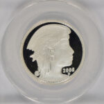 Close up 2008 D Proposed Union of North America 50 Amero Half Ounce Silver PF69 DCAM ANACS for sale e24 obverse
