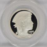 Close up 2008 D Proposed Union of North America 50 Amero Half Ounce Silver PF69 DCAM ANACS for sale e24 obverse