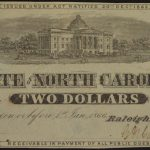 1863 January 1, $2 State of North Carolina au for sale 2448 face