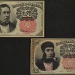 1874-1876 Fifth Issue 10 Cent Fractional Currency FR# 1265 pair of notes for sale face