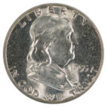 1955 Franklin Half Dollar ms64 for sale w1458 obverse