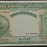 Bahamas 1953 4 Shillings vf for sale 110650 face
