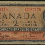 Canada 1954 $2 Devil's Hair fine for sale 2087170 face