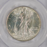 Close up 1944 Walking Liberty Dollar MS65 PCGS 6621.65-24741791 for sale obverse