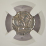 Close up Ancient Greek 4th Century BC AR Hemidrachm Thracian Chersonesus Fine NGC 3598941-059 for sale obverse
