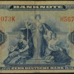 Germany 1948 10 Mark Bank Note vg for sale 5670073 face