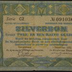 Netherlands 1922 2,5 Gulden Note vg for sale 091036 face