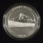 2010 P Mount Hood (OR) America the Beautiful 5 Ounce Silver Quarter Burnished for sale reverse