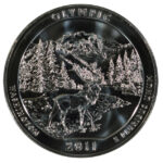 2011 Olympic (WA) America the Beautiful 5 Ounce Silver Quarter uncirculated for sale reverse