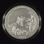 2014 P Shenandoah (VA) America the Beautiful 5 Ounce Silver Quarter Burnished for sale reverse