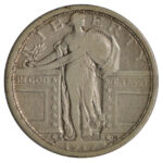 1917 S Standing Liberty Quarter Type 1 fine for sale w1585 obverse