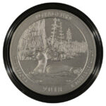 2018 P Voyageurs (MN) America the Beautiful 5 Ounce Silver Quarter burnished for sale reverse