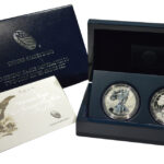 2012 San Francisco American Silver Eagle Two Coin Set Proof Set