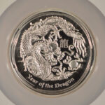 Close up Australia 2012 P $1 Dragon - High Relief PF69 Ultra Cameo NGC 2778010-001 for sale obverse1