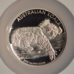 Close up Australia 2012 P $1 Koala High Relief PF69 Ultra Cameo NGC 3682152-011 for sale obverse
