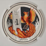 Close up Tuvalu 2013 $1 Phoenix Colorized PF69 Ultra Cameo NGC 3784870-009 for sale obverse
