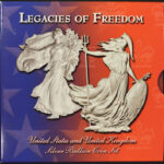Legacies of Freedom United States and United Kingdom Silver Bullion Coin Set bu for sale cover