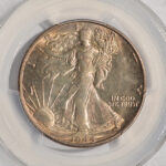 Close up 1944 S Walking Liberty Half Dollar MS64 PCGS 6423.64-30924196 for sale obverse