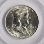 Close up 1962 D Franklin Half Dollar MS64 FBL PCGS 86683.64-7678825 for sale obverse