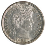 1892 Barber Dime au for sale w1663 obverse