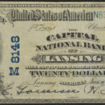 1902 Capital National Bank of Lansing MI $20 Charter# 8148 f15 for sale 21950 face