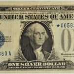 1928 $1 Silver Certificate Star Note FR#1600star VF30 for sale 00583860a face