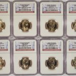 2007 P,D Presidential Dollar set of 8 MS65 NGC first day of issue for sale obverse