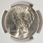 Close up 1926 Peace Dollar MS65 NGC 4303167-007 for sale obverse