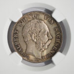 Close up Germany Saxony 1904 2 Marks MS66 NGC 2696952-009 for sale obverse