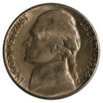 1954 S over D Jefferson Nickel ms64 for sale w1151 obverse