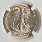 Close up 1946 Walking Liberty Half Dollar MS65 NGC 3782853-011 for sale obverse