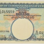 Malaya 1941 July 1 $1 Note P-11 vf r015559 for sale face