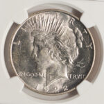 Close up 1922 D Peace Dollar MS63 NGC 4646892-077 for sale obverse