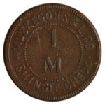 1880 Ca Muskegon Shingle and Lumber Co Shingle Check Good for 1 M Shingles fine for sale e102 obverse