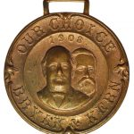 1908 William Jennings Bryan-Kern Political Watch Fob for sale obverse