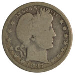 1897 O Barber Quarter good for sale w1940 obverse
